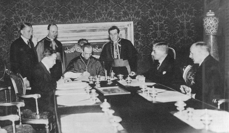 Unterzeichnung Des österreichischen Konkordats Im Vatikan 1933 Durch